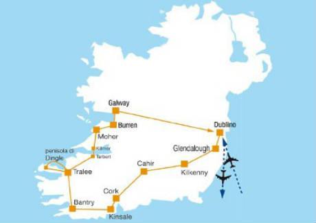 Irlanda Cartina Turistica.Tour Operator In Irlanda Vacanze Tour Viaggi Organizzati In Irlanda