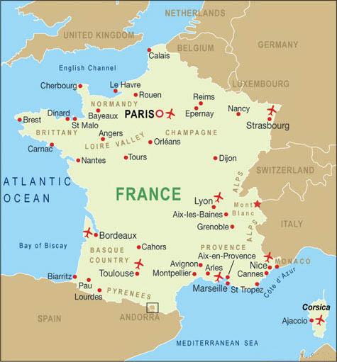 Nantes Cartina Francia.Notizie Utili Francia Airmar Viaggi Tour Operator