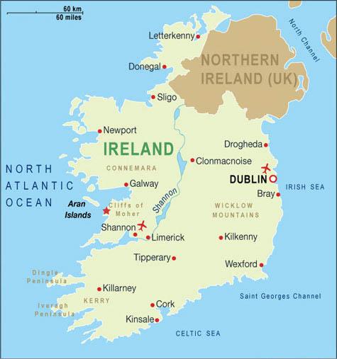 Irlanda Cartina Turistica.Notizie Utili Irlanda Airmar Viaggi Tour Operator