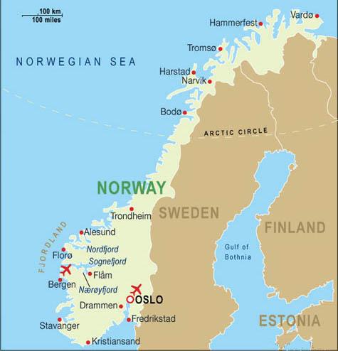 La Norvegia Cartina.Notizie Utili Norvegia Airmar Viaggi Tour Operator