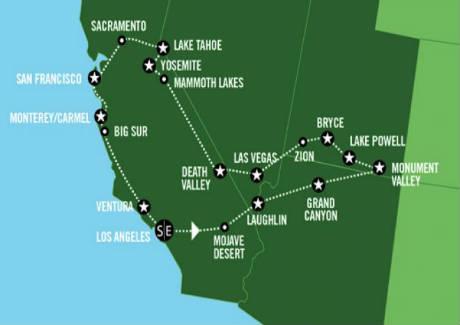 Viaggi organizzati e tour con auto a noleggio in for Noleggio di cabine lake tahoe per coppie