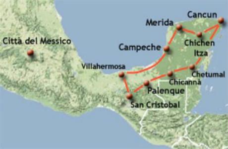 Cartina Yucatan E Chiapas.Viaggi Organizzati In Messico Tour Di Gruppo Con Guida Alla Scoperta Del Messico Partenze Da Cagliari Bologna Palermo Milano Roma Venezia